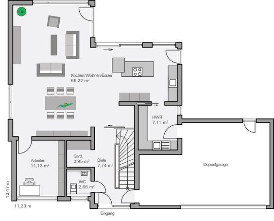 Traumhaus modern grundriss  Grundriss EG Schönborn | Wohnen | Pinterest | Modern und Haus