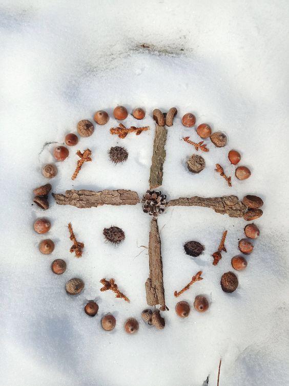 játék a hóban mandalák