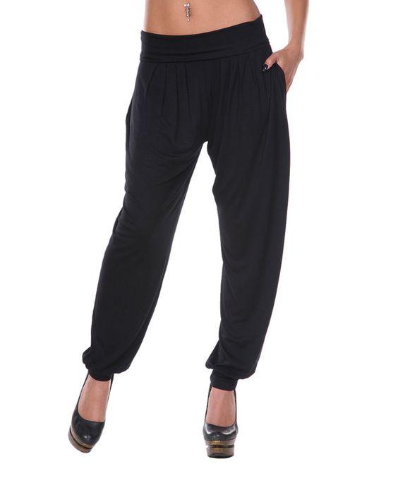 Black Harem Pants by White Mark #zulily #zulilyfinds