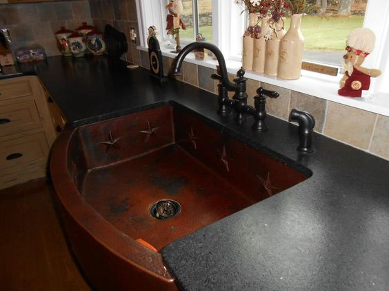 Black Leathered Countertops Leather Look Of The