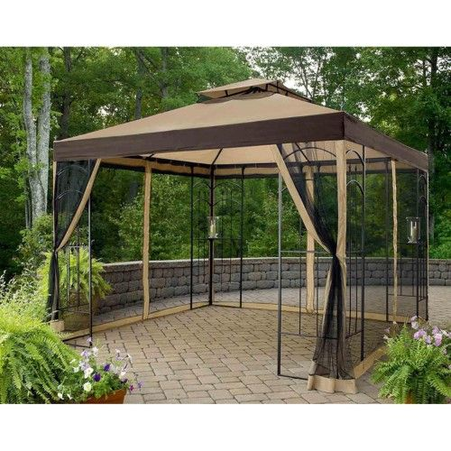Sunjoy 10 X 10 Ft Replacement Canopy Cover For L Gz038pst 3a Winslow Gazebo Brown Gazebo Replacement Canopy Gazebo Canopy Outdoor Gazebos