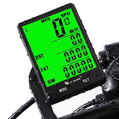 Fahrradcomputer Drahtlos Wasserdicht 20 Funktionen Lcd