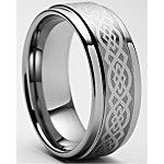 Keon Celtic Tungsten Ring 8mm Only $49.99