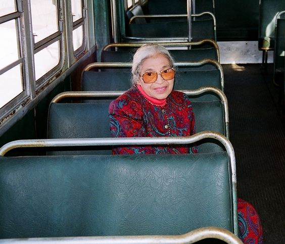On December 1, 1955, Parks refused to give up her seat to a white male while riding a Montgomery bus.