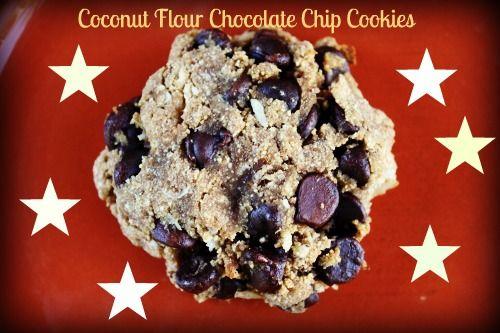 Ooey Gooey Coconut Flour Chocolate Chip Cookies