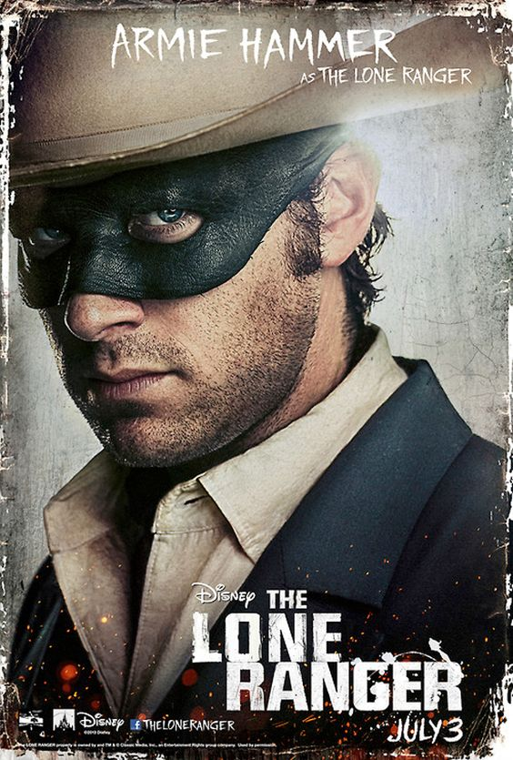 The Lone Ranger Character Posters: Stubble And Facepaint In The Old West - CinemaBlend.com