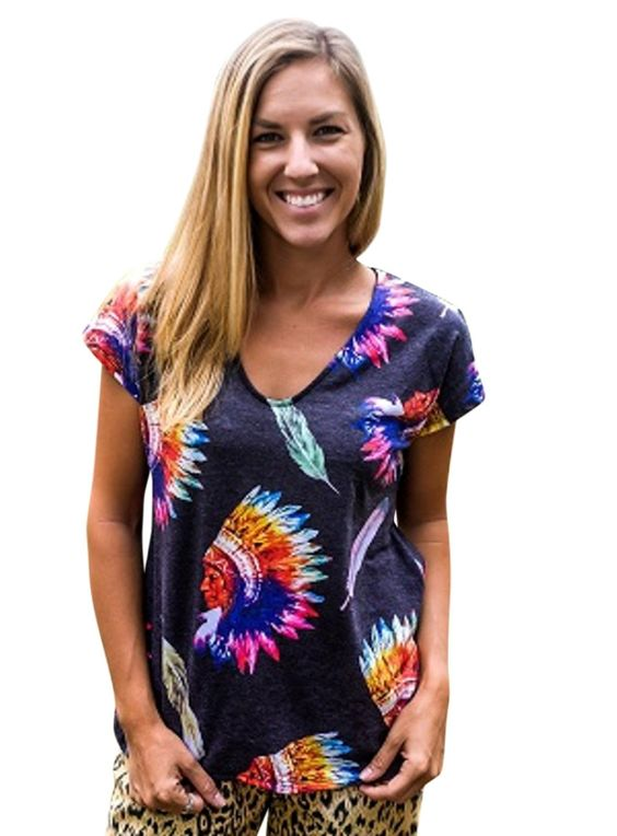 Colorful Indian Chief Tee