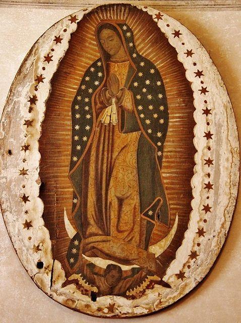 Guadalupana, Capilla de Santa María, Malinalco, Edo. de México.
