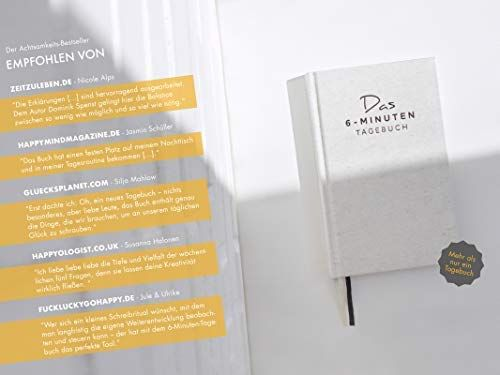 Das 6 Minuten Tagebuch Ein Buch Das Dein Leben Verandert Mix Aus Sach Praxis Und Notizbuch Amazon De Dominik Spenst Bucher Bucher Notizbuch Tagebuch