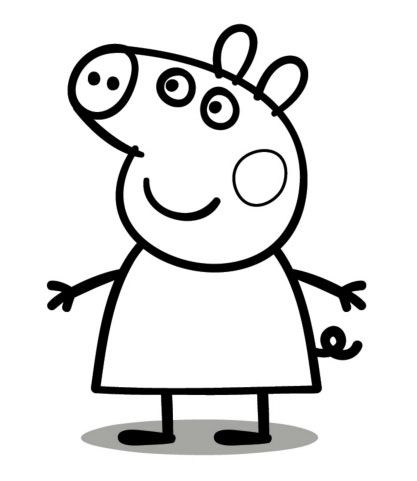 peppa pig cake template free - pinterest the world s catalog of ideas