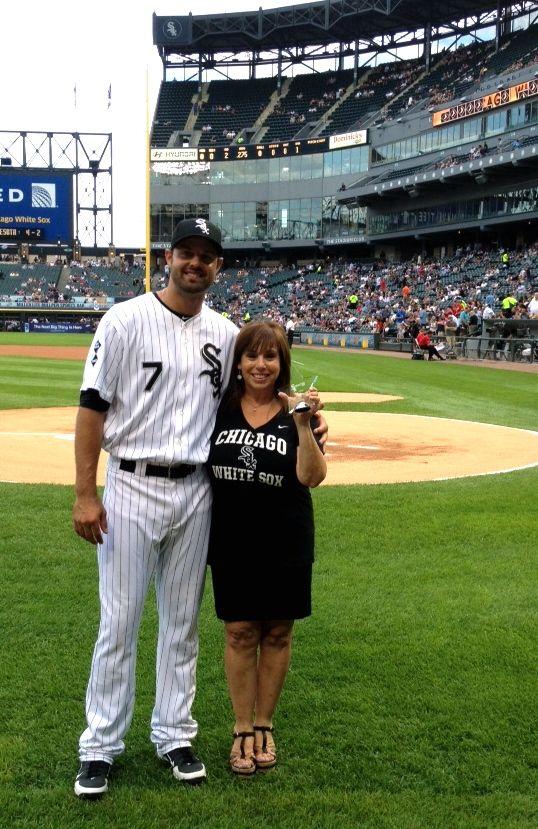 Receiving my White Sox Volunteer award from Jordan Danks.