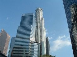 The US Bank Tower in Downtown LA
