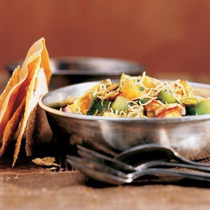 Papaya-Kiwi Chaat with Pistachios Recipe   MyRecipes