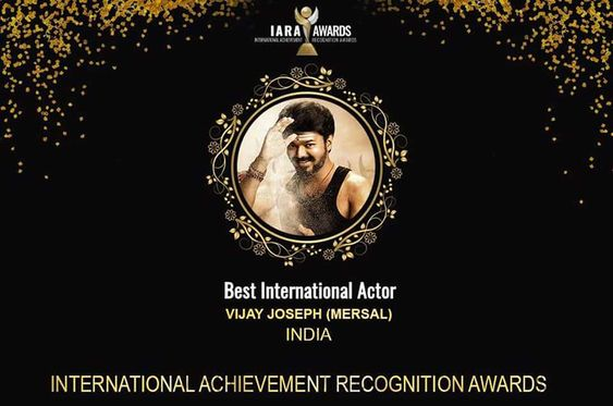 Thalapathy Vijay Wins IARA Award For Mersal Best International Actor