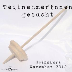 Ich suche noch TeilnehmerInnen für einen Handspinnkurs im November 2012