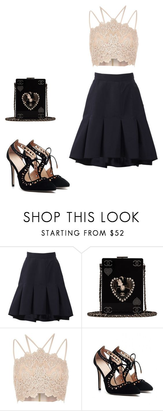 """""""fancy"""" by karlavina15 ❤ liked on Polyvore featuring Oscar de la Renta, Chanel and River Island"""