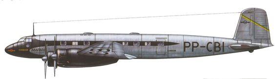 "Focke-Wulf Fw 200 Condor [1937], Civil airliner operated by  Sindicado Condor named ""Abaitara"", Rio de Janeiro, Brazil"
