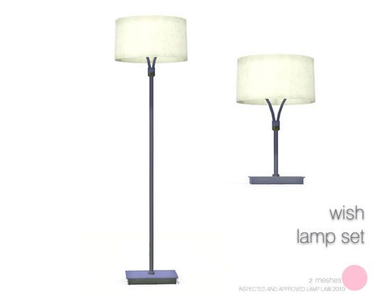 Wish Lamp Set Modern 2 Meshes Table Floor Lamps By Dot Of The Sims