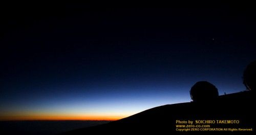マウナケアの朝焼け(The morning glow of Mauna Kea)