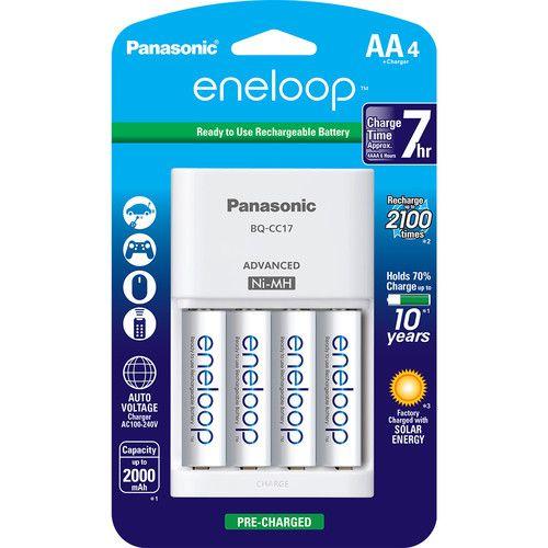 Panasonic Eneloop Rechargeable Aa Ni Mh Batteries With Charger Rechargeable Batteries Panasonic Charger