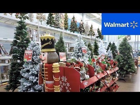 2 Christmas 2018 Section At Walmart Christmas Trees Decorations