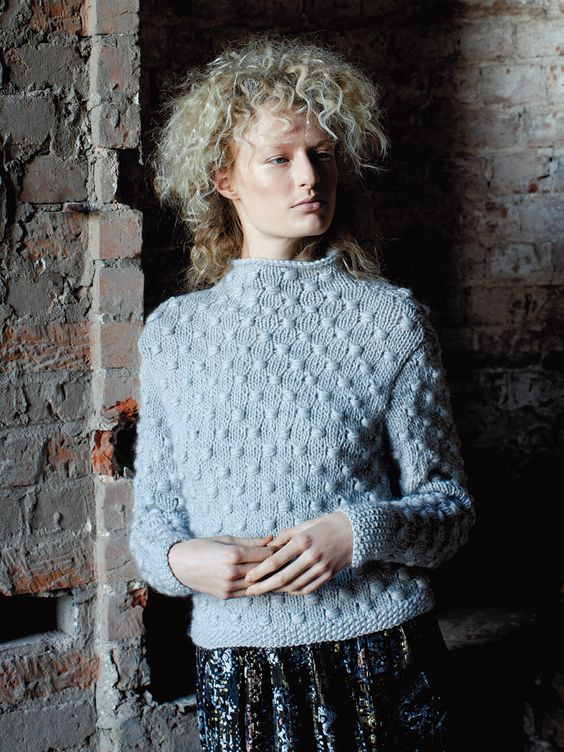 Knitting Patterns For Kid Mohair : Crisp - Knit this ladies sweater with stand up collar from Rowan Knitting &am...