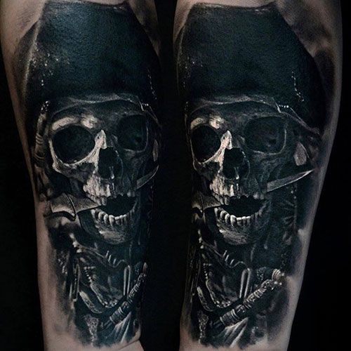 101 Best Skull Tattoos For Men Cool Designs Ideas 2019 Guide Pirate Skull Tattoos Skull Tattoos Skull Sleeve Tattoos