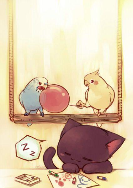 Pics For > Cute Cockatiel Drawing