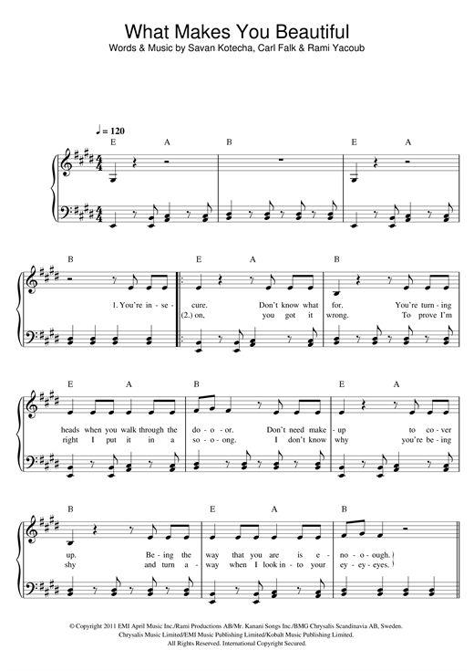 partition piano facile moderne