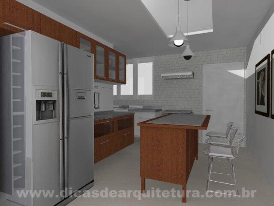 Cozinha gourmet aconchegante. http://dicasdearquitetura.com.br/cozinha-gourmet/