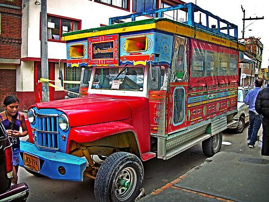 Chiva, tourist bus in Colombia