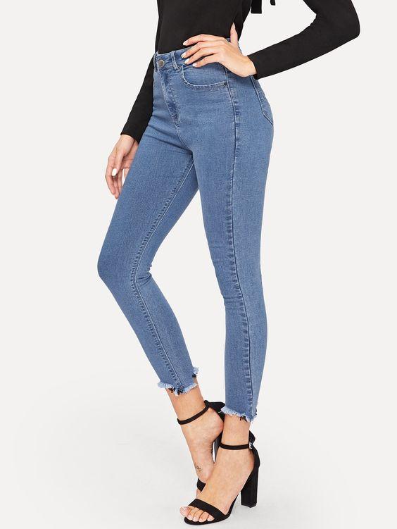 Raw Hem Skinny Jeans #Sponsored , #sponsored, #Hem#Raw#Jeans