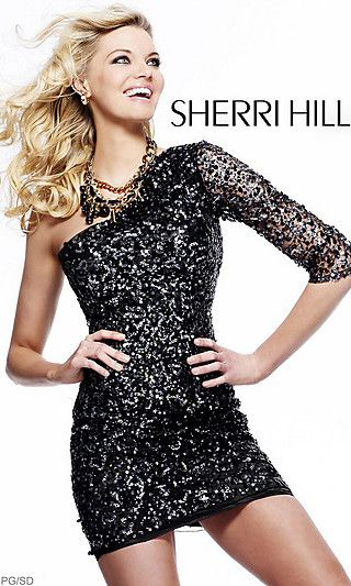 gorgeous one sleeve homecoming dress