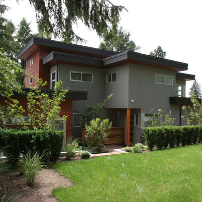 Love the color scheme the grey stucco works well with the for Exterior stucco trim ideas