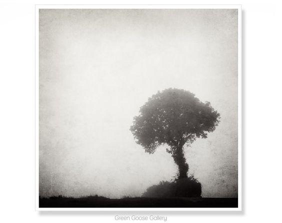 Gothic Wall Art, Tree Art, Gothic Decor, Black and White Art, Made In Ireland, Lone Tree