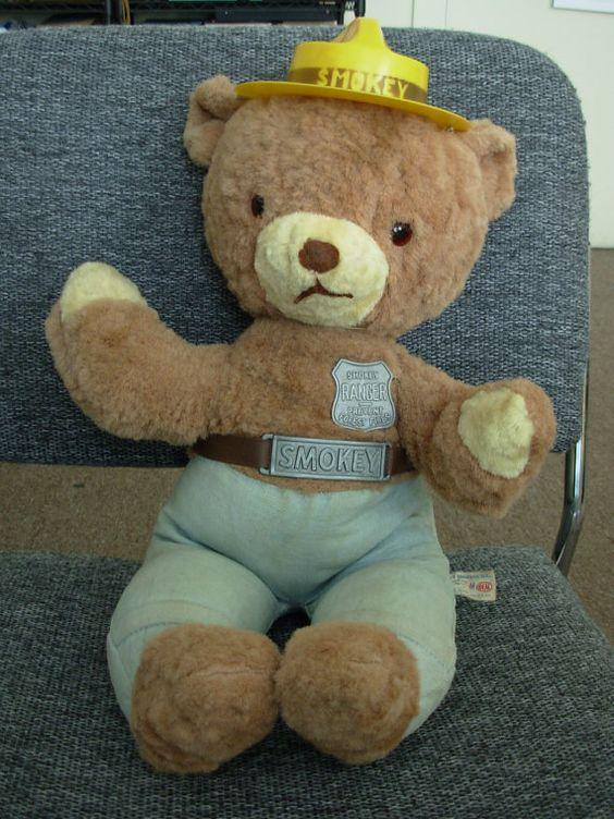 1960 S Smokey The Bear Smokey The Bears Vintage Teddy Bears Old Teddy Bears