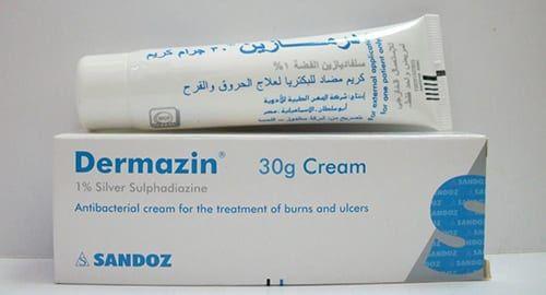 درمازين كريم لعلاج الحروق والجروح ومضاد للميكروبات Dermazin Cream Burns Treatment Cream Ulcers