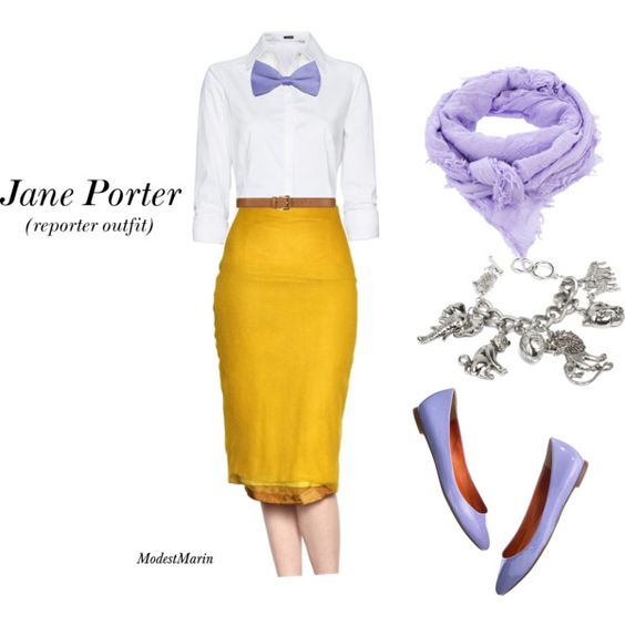 """Jane Porter"" by mormonredhed on Polyvore without bowtie"