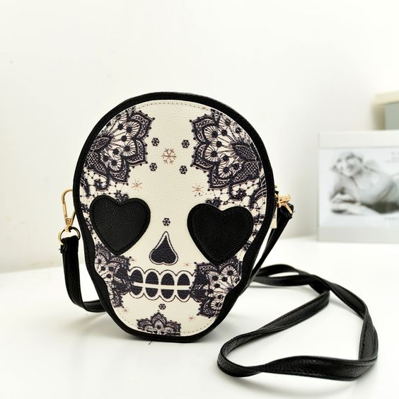 2 2013 limited edition vintage skull coin purse messenger bag female bags $34.89