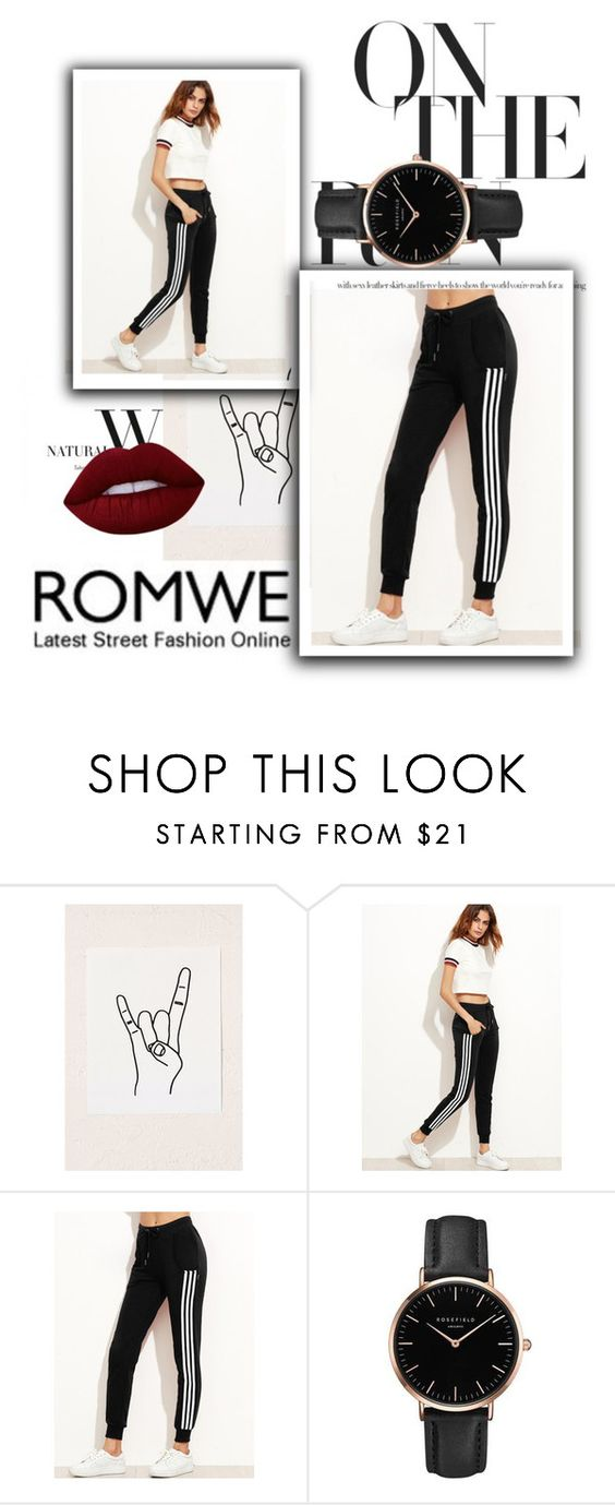 """""""Romwe!"""" by valerieetorres ❤ liked on Polyvore featuring Urban Outfitters, Topshop and Lime Crime"""