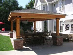 Detached covered patio   Patio reno ideas   Pinterest ... on Detached Covered Patio Ideas id=66232
