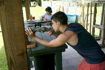 Nick at the range!