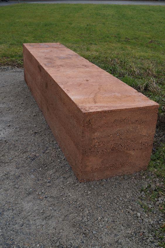 Sitzbank Stampfbeton   Concrete / Beton   Pinterest