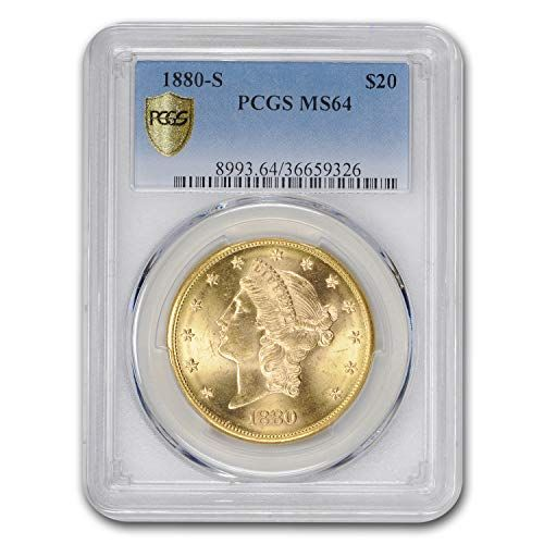 1880 S 20 Liberty Gold Double Eagle Ms 64 Pcgs G 20 Ms 64 Pcgs Goldcoins Gold Goldbullion Gold Coins Coin Store Pcgs