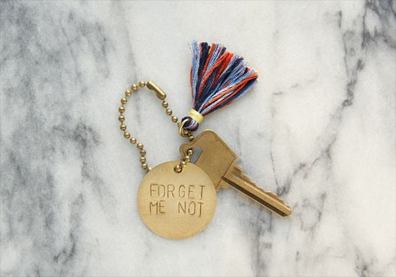 Turn a brass tag into a stylish keychain using metal stamps, a hammer and this simple tutorial by Clare McGibbon.
