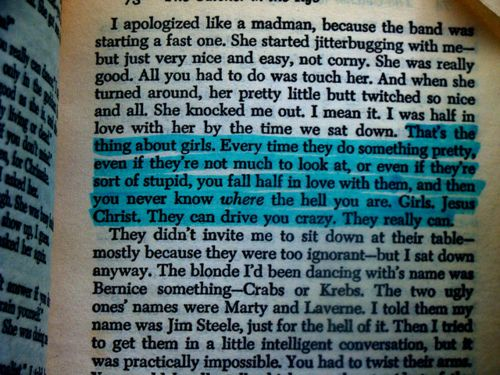 Catcher in the Rye - one of my all time favorites.
