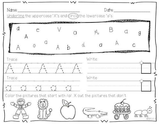 Number Names Worksheets : abc practice worksheets for kindergarten ...