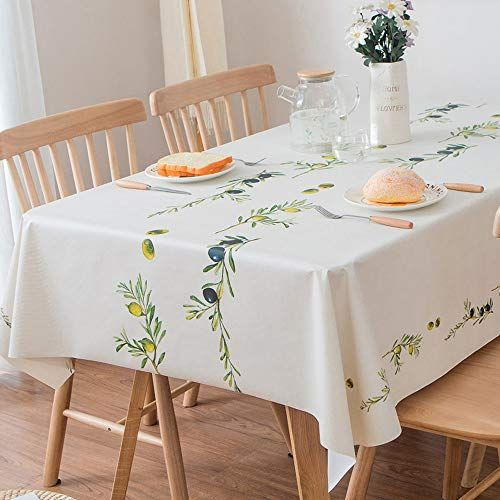 Jzy Heavy Duty Vinyl Table Cloth For Kitchen Dining Table Https Www Amazon Com Dp B07qzcdcg3 Ref Cm Dining Table In Kitchen Table Summer Table Decorations