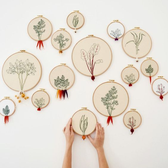 vegetables embroidery