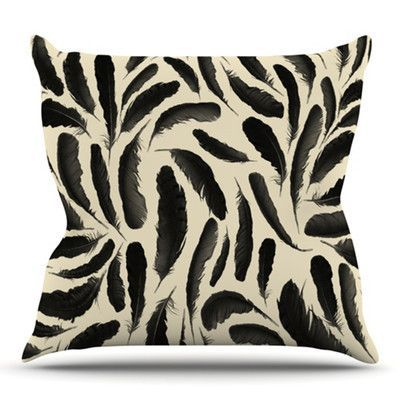 KESS InHouse Feather Pattern by Skye Zambrana Outdoor Throw Pillow
